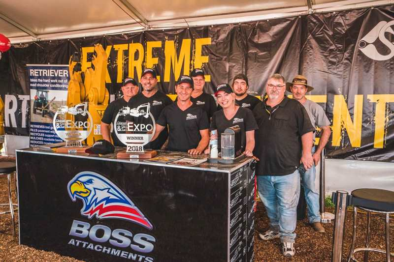 Boss wins awards 2018 Diesel Dirt Turf Expo